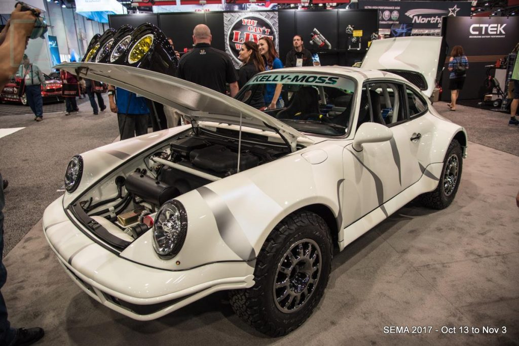 Offroad Porsche Build by Kelly Moss at the Extreme Outback Products Booth